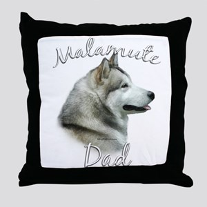 Malamute Dad2 Throw Pillow