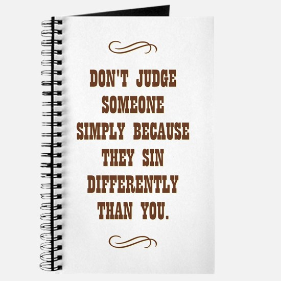 DON'T JUDGE... Journal