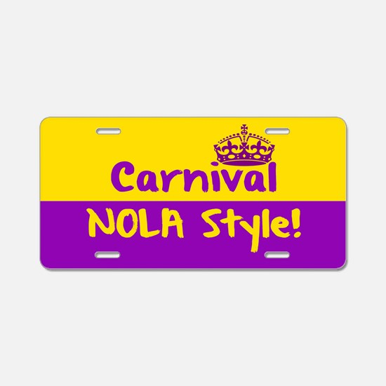 Carnival NOLA Style Aluminum License Plate