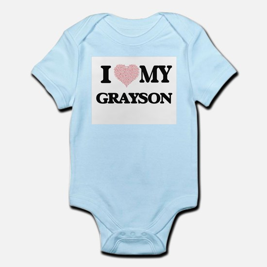 I Love my Grayson (Heart Made from Love Body Suit