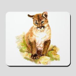 Watercolor Cougar, Puma, Mountain Lion C Mousepad