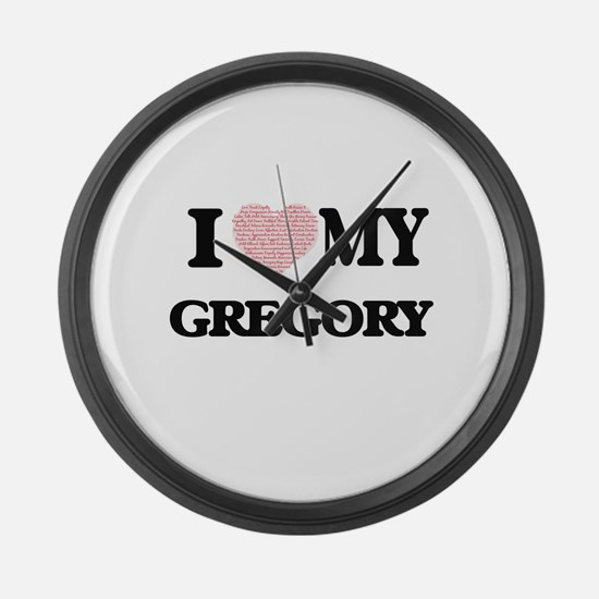 I Love my Gregory (Heart Made fro Large Wall Clock