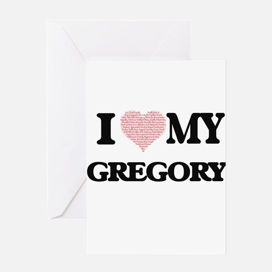 I Love my Gregory (Heart Made from Greeting Cards
