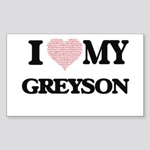 I Love my Greyson (Heart Made from Love my Sticker
