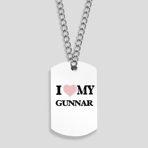 I Love my Gunnar (Heart Made from Love my Dog Tags