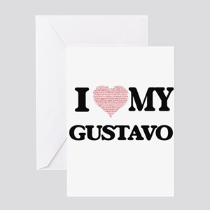 I Love my Gustavo (Heart Made from Greeting Cards
