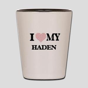 I Love my Haden (Heart Made from Love m Shot Glass