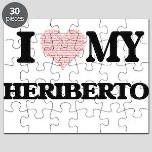 I Love my Heriberto (Heart Made from Love m Puzzle