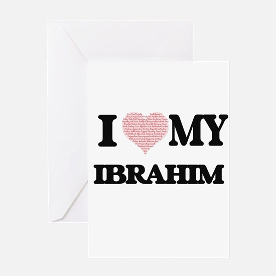I Love my Ibrahim (Heart Made from Greeting Cards