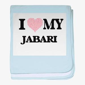 I Love my Jabari (Heart Made from Lov baby blanket