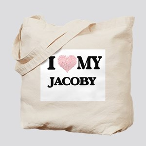 I Love my Jacoby (Heart Made from Love my Tote Bag
