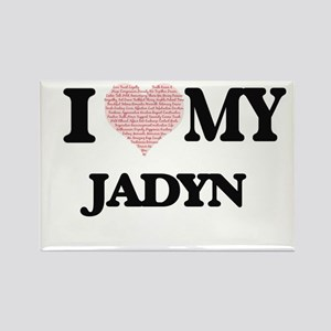 I Love my Jadyn (Heart Made from Love my w Magnets