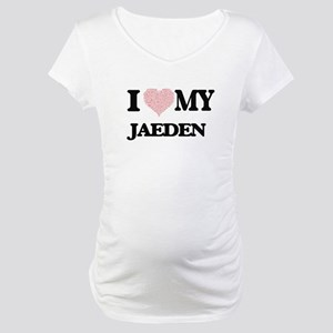 I Love my Jaeden (Heart Made fro Maternity T-Shirt