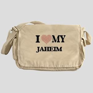 I Love my Jaheim (Heart Made from Lo Messenger Bag
