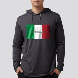Italian Flag Extra Long Sleeve T-Shirt