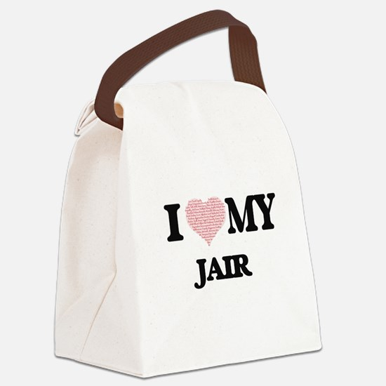 I Love my Jair (Heart Made from L Canvas Lunch Bag