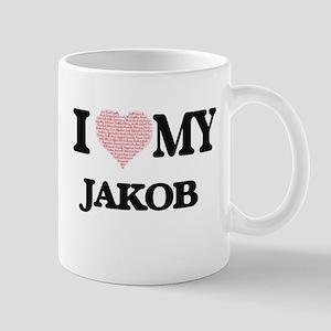 I Love my Jakob (Heart Made from Love my word Mugs