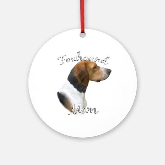 Foxhound Mom2 Ornament (Round)