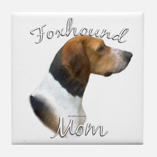 Foxhound Mom2 Tile Coaster