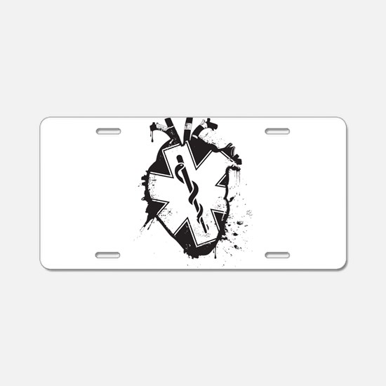 star of life heart Aluminum License Plate