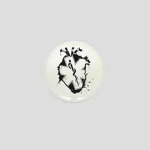 star of life heart Mini Button