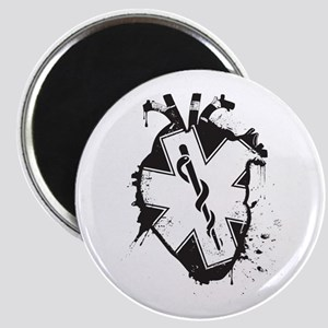 star of life heart Magnets