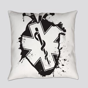 star of life heart Everyday Pillow