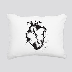 star of life heart Rectangular Canvas Pillow