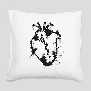 star of life heart Square Canvas Pillow