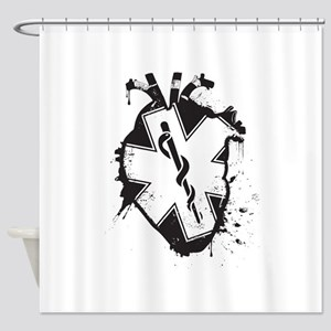 star of life heart Shower Curtain