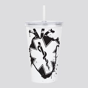 star of life heart Acrylic Double-wall Tumbler
