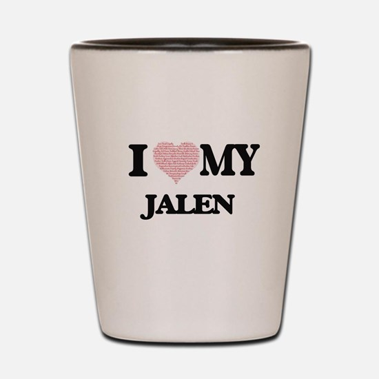 I Love my Jalen (Heart Made from Love m Shot Glass