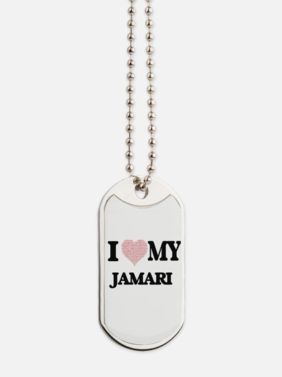 I Love my Jamari (Heart Made from Love my Dog Tags