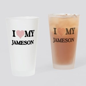 I Love my Jameson (Heart Made from Drinking Glass