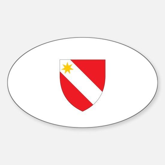 German crest Sticker (Oval)