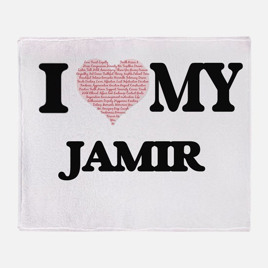 I Love my Jamir (Heart Made from Lov Throw Blanket