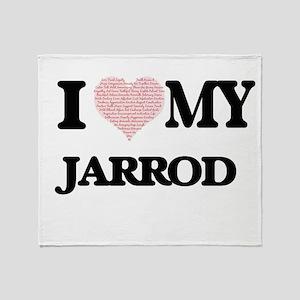 I Love my Jarrod (Heart Made from Lo Throw Blanket