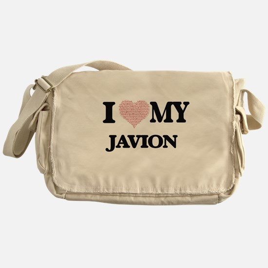 I Love my Javion (Heart Made from Lo Messenger Bag