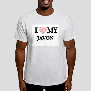 I Love my Javon (Heart Made from Love my w T-Shirt