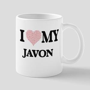 I Love my Javon (Heart Made from Love my word Mugs