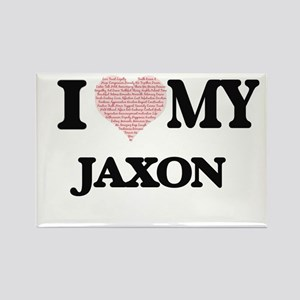 I Love my Jaxon (Heart Made from Love my w Magnets