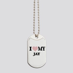 I Love my Jay (Heart Made from Love my wo Dog Tags