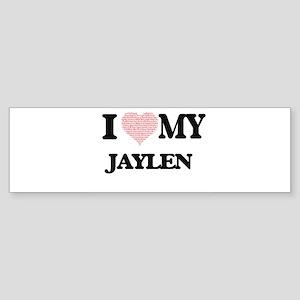 I Love my Jaylen (Heart Made from L Bumper Sticker