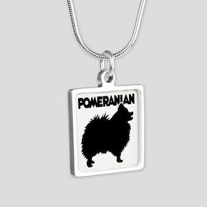 POMERANIAN Silver Square Necklace
