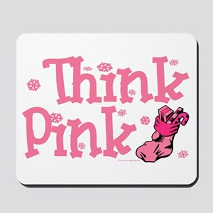 PINK Christmas Stocking 5 Mousepad