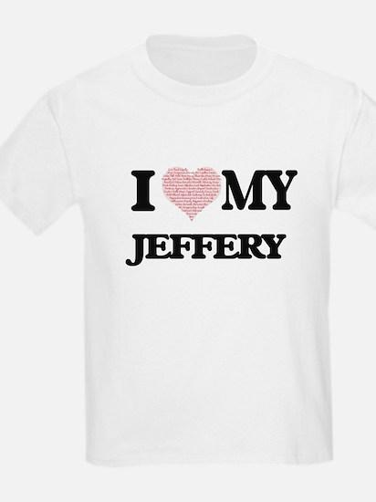 I Love my Jeffery (Heart Made from Love my T-Shirt
