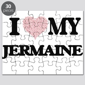 I Love my Jermaine (Heart Made from Love my Puzzle