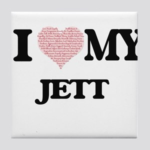 I Love my Jett (Heart Made from Love Tile Coaster