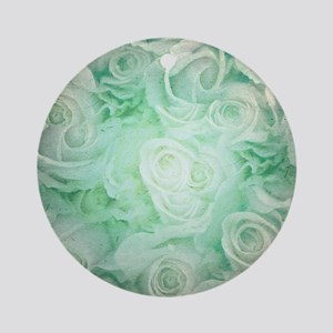 Wonderful roses pattern Round Ornament