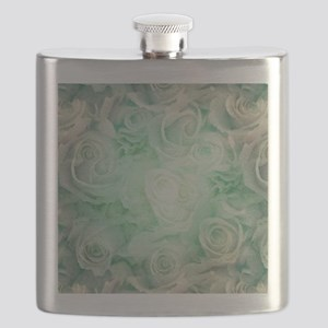Wonderful roses pattern Flask
